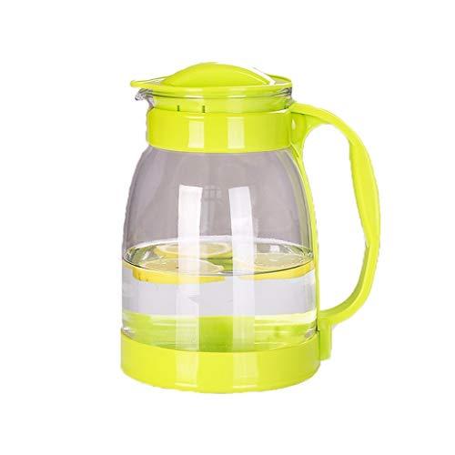 Teteras teapot Claro tetera de vidrio con mango de plástico 2000 ml / 68 oz botella de gran capacidad a prueba de calor frío hervidor de agua de los hogares pote del té de flor de té de la herramienta