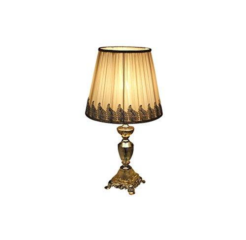 JPVGIA Luz cálida de interior LED Luz cálida Protección ocular Lámpara de cabecera Lámpara de mesa de cristal de luz suave Lámpara de cabecera Dormitorio Simple y moderna Lámpara de escritorio creativ