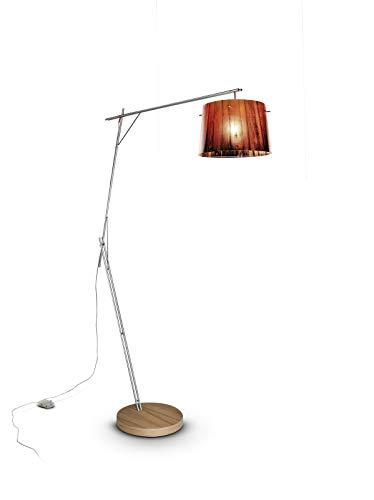 Slamp acryl vloerlamp/Woody in oranje | Made in Italy | Moderne vloerlamp oranje rood | E27 lamp