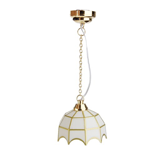 1:12 Puppenhaus Miniatur Decke Lampe LED Licht
