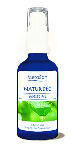 MeraSan Desodorante natural sensible en spray, vegano, cosmética natural sin alcohol ni aluminio, 50 ml