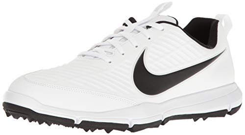 Nike Men's Explorer 2 Golf Shoe, White/Black, 11.5 M US