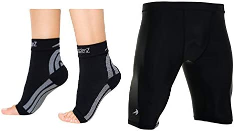 CompressionZ Compression Foot Sleeves Men s Compression Shorts Bundle Black 2XL product image