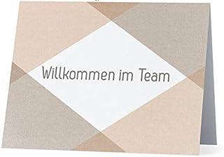 Grußkarte Willkommen im Team Beige