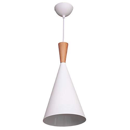 Lámpara Iluminación colgante moderna nordica Rosca E27 para el Restaurante Dormitorio Sala de Estudio Loft Pasillo 20 cm diámetro color blanco
