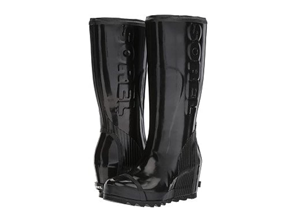 ミュウミュウフリッパーみなさん[ソレル] レディースブーツ?靴 Joan Rain Wedge Tall Gloss [並行輸入品]