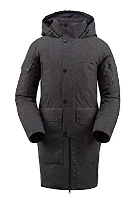 Spyder Men's Metro Gore-Tex Infinium Down Parka – Male Full-Zip Hooded Winter Jacket