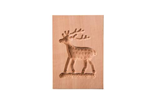 Springerle-Model Hirsch, Holz Form Birnbaum, Backform für Anisgebäck, 8 x 6 cm