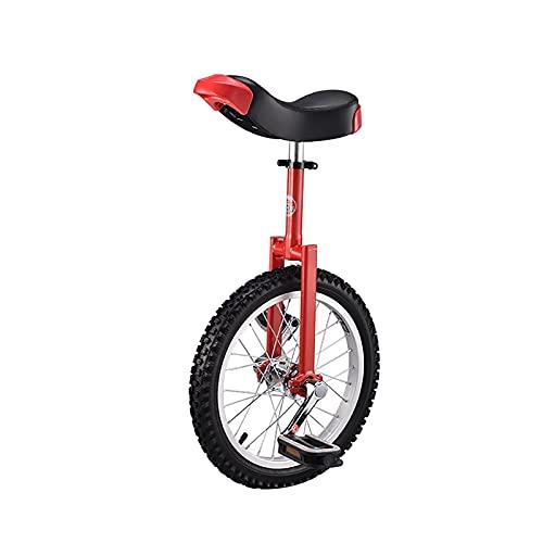 YYLL Monociclos 18'Kid's/para Adultos Entrenador Unicycle Altura Ajustable Unicycle Professional con Soporte de Unicycle, 4 Colores Disponibles (Color : Red, Size : 18 Inch)