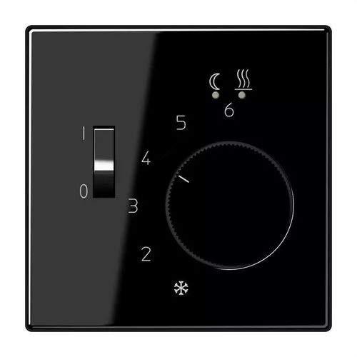 Jung FTRLS231SW thermostaat voor vloerverwarming, thermoplast (schokbestendig) extra glanzend, zwart