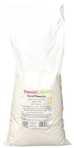 TrendLight Paraffin Paraffinwachs rein Weiss zum Kerzen herstellen 2 kg Markenqualität