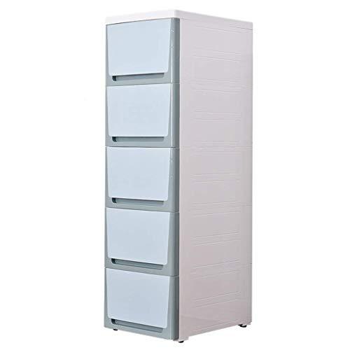 QGQ Multi-Schublade Locker 30Cm Breit Slit, Fach-Art Snack Lagerung Gap Grenzen Schrank Badezimmer Küche Storage Rack-Schrank,Jasmine Green,6 Lagen