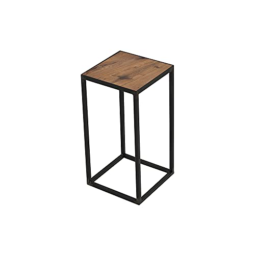 Spinder Design ZU140-02-35 Table d'appoint, Acier/chêne, forgé, 21 x 21 x 40 cm