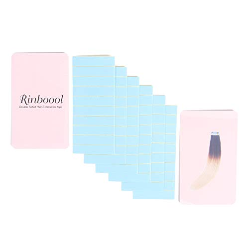 RINBOOOL Hair Extensions Tape Tabs 60 Pcs, Double Sided, for Tape in Hair Extensions Replacement
