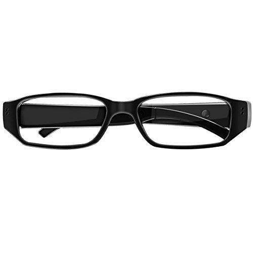 Spionagekamera-Brille mit Video-Digital-Camcorder, unterstützt TF-Karte mit bis zu 32 GB, modische 1080p Brille mit versteckter Kamera, tragbarem Videoaufnahmegerät
