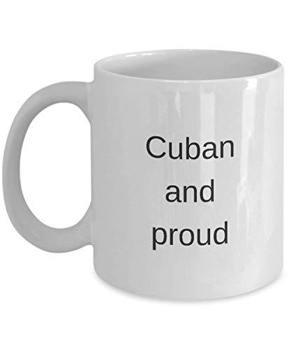 Cuba Souvenir Mug Orgullo Pronombres Taza 'Cubana Y Orgullosa' 11 Oz Taza Blanca Taza De Café Taza De Café Taza De Té