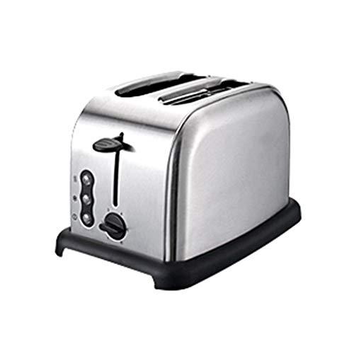 Edelstahl 2 Toaster Breitschlitz-Toaster 900W beste Nennleistung, Pop-up-Wiedererwärmungs Abtaufunktion, 6-Gang, herausnehmbarer Brotkrümel Tablett
