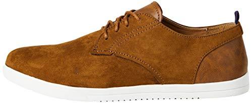 find. Zapatos de Sport Estilo Derby para Hombre, Marrón (Tan), 43 EU