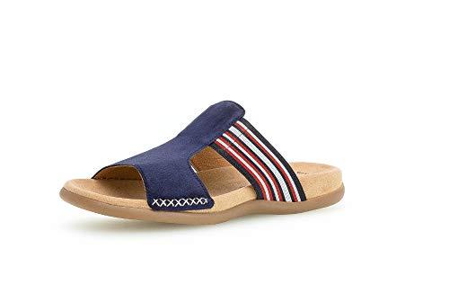 Gabor Damen ClogsPantoletten, Frauen Clogs,Best Fitting,Übergrößen, leger Hausschuh Pantoffel Slipper Slides Lady,Bluette(Marine-k.),38 EU / 5 UK