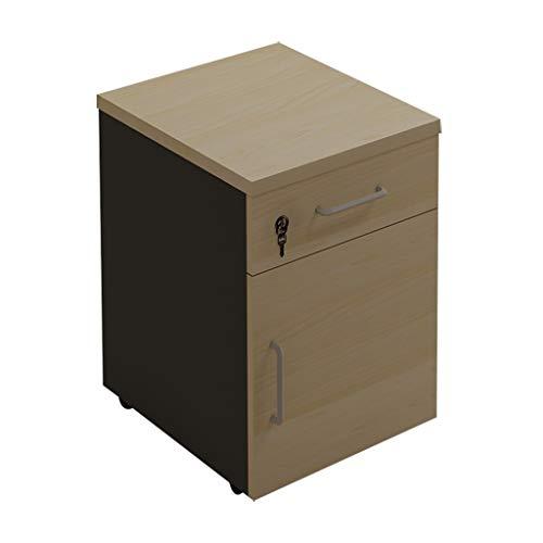 Archivador de Tres Capas, Oficina con Almacenamiento de Archivos con Cerradura, Gabinete de Actividad de Madera, Color Arce (60x40x40cm) Lostgaming