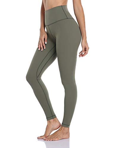 Hawthorn Athletic Full Length Yoga Leggings for Women, Buttery Soft Workout Pants Compression Leggings with Pockets Sage Grey_28'' XL(14)