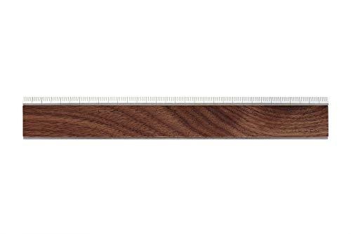 +LUMBER by Hacoa RULER 無機質なアルミに銘木をプラスした定規・ものさし (Walnut)