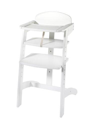Schardt 010520002 Maxim III Chaise haute réglable en hêtre massif laqué blanc