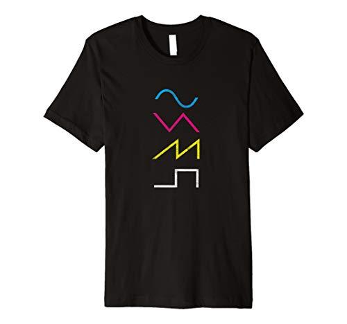 Vintage Synthesizer Techno Waveform - Synth Nerd T-Shirt