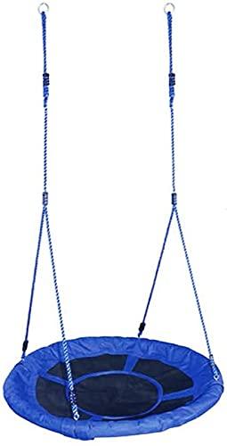 FDGSD Asiento de Columpio para Nido de pájaro - Juegos de Gimnasia para jardín para niños Nido al Aire Libre Red de araña Redonda Juguete Balancín Platillo Volador Accesorios para sillas de árbol