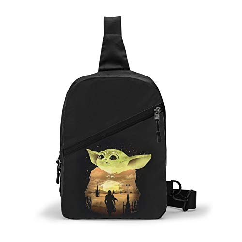 Baby Yo-Da Sling Bag Cartoon Chest Should Bags Crossbody Bag Backpack for Outdoor Workout Exercise Travel Sport Gym Boys Girls