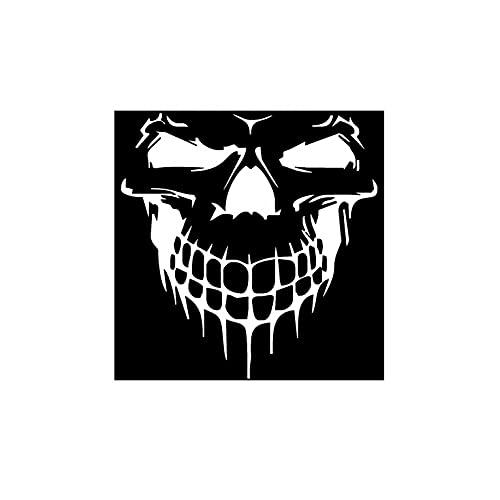 YUECI Horror Autoaufkleber Totenkopf Kratzer Wasserdichte Abdeckung Motorabdeckung Dekorative Papier Aufkleber 2021 Aufkleber für Horror-Thema Persönlichkeit Perspektive Auto Aufkleber