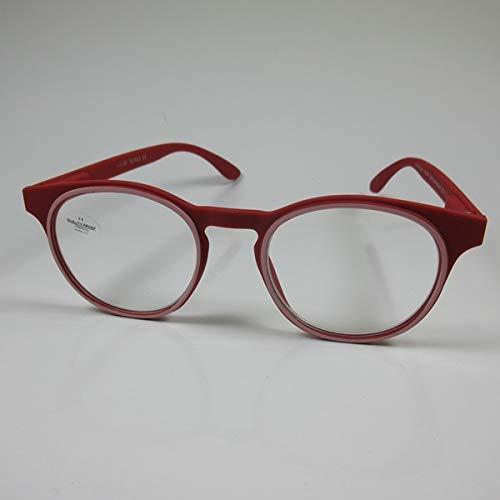 Schildgen Designer Lesebrille +2,0 rot für SIE & IHN Federbügel Fertigbrille