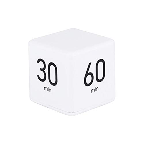 Cube Timer 5, 15, 30 And 60 Minutes For Time Management (White)...