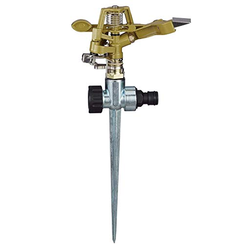 ZSWQ Professional Impulse Metal Spike, Impulse Garden Sprinkler,Adjustable...
