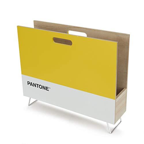 balvi Zeitungsständer Pantone Gelb Farbe Dekorative Veranstalter für Zeitschriften, Zeitungen, Dokumente, modern und minimalistisches Design Pantone MDF Holz 28x38x9 cm