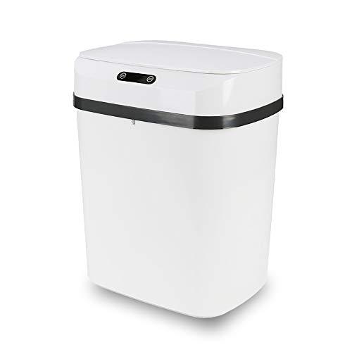 Cubo de Basura con Sensor Automático RAYPOW · Papelera Inteligente de 12 Litros para Cocina, Dormitorio, Baño Y Oficina · Color Blanco
