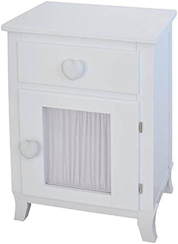 bainba Nachttisch Türknauf Tür Vorhang mit Herzen 33x43x66 cm Weiß