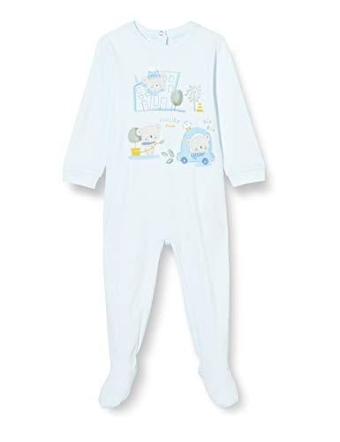 Chicco Tutina con Apertura sul patello Mamelucos para bebés y niños pequeños, Azul Claro, 80 cm Unisex bebé