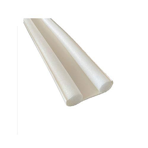 FLAMEER Junta de Puerta Flexible Tirador de Rayas Excluidor Reducción de Ruido Bloqueador de Polvo, Apto para Lavavajillas - Blanco