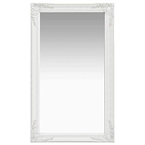 vidaXL Espejo de pared estilo barroco blanco 60x100 cm