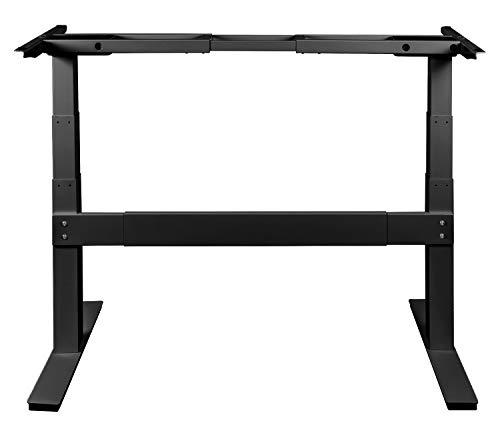 Exeta ergoSMARTPLUS Elektrisch höhenverstellbarer Schreibtisch / 2 Motoren /3-Fach-Teleskop, Querstrebe, 4-fach Memory-Funkt. und Softstart/stopp, Tischgestell elektrisch black - für alle Tischplatten