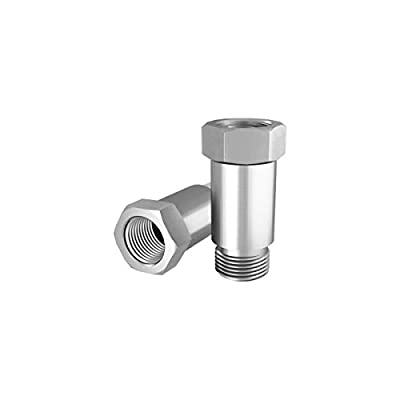 2PCS O2 Defouler Straight M18 x 1.5 fits Header and Exhaust Pipes Stainless Steel