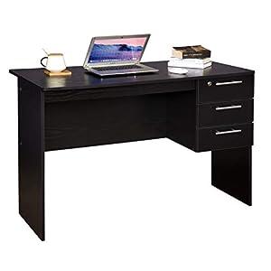 Mesa de Estudio de Escritorio para Ordenador con 2 cajones ...