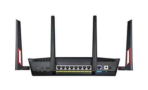 Asus RT-AC88U Gaming Router AiMesh WLAN System, WiFi 5 AC3100, Gaming Engine, 8 x Gigabit LAN, Link Aggregation, 1.4 GHz DC CPU, Alexa & IFTTT & App Steuerung, AiProtection, USB 3.0