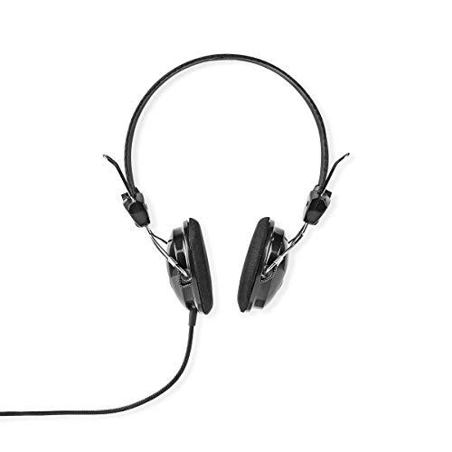 Bedrade Koptelefoon 1,5 m Ronde Kabel On-Ear Zwart