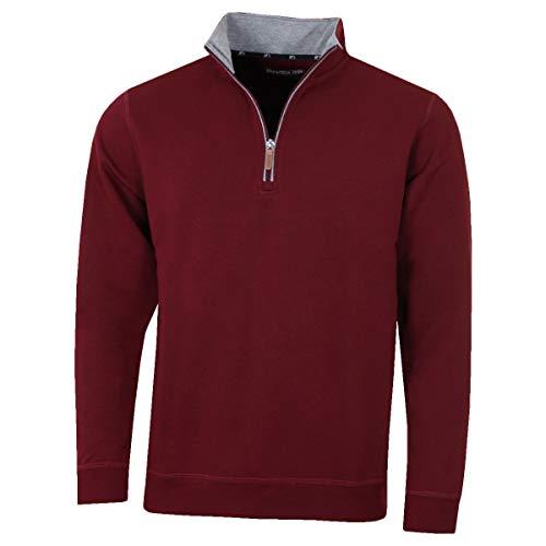 Pro-Quip Pull thermique de golf en jersey avec fermeture éclair ¼ pour homme - Rouge - XL