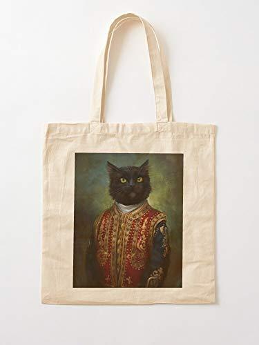 Pet Oils Oil Royal Fine Animal Kitten Cat Canvas Tote Umhängetasche Stylish Shopping Casual Bag Faltbare Reisetasche
