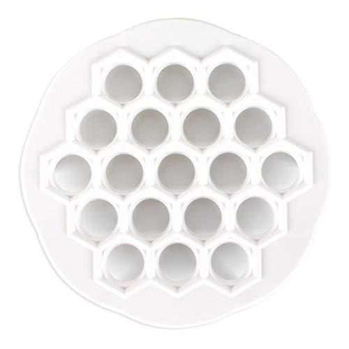 CLX Creator 19 Ravioli-Form, Plastikform Pasta Press, Form für Kuchen Ravioli Werkzeug für DIY Backen Gebäck Küche, Licht,Weiß
