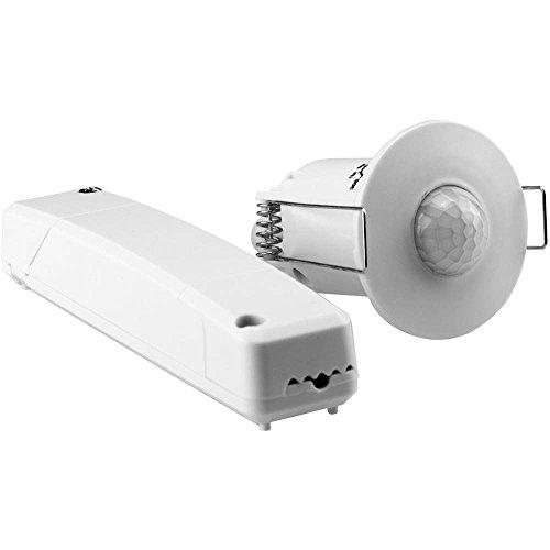 Grothe 94506 Opbouw, plafond, inbouw PIR-bewegingsmelder 360 ° relais wit IP20