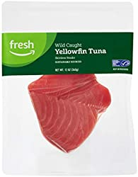 Fresh Brand – Wild Caught Yellowfin Tuna Skinless Steaks, 12 oz, Sustainably Sourced (Previously Fro